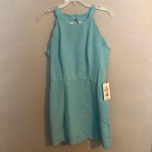 Blue Lauren James Scallop Dress